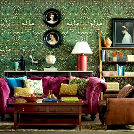 How to have a victorian style for living room designs for Victorian style room
