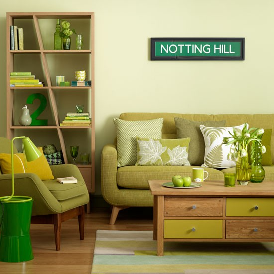 Relaxing green living room classic decorating ideas for Living room designs green