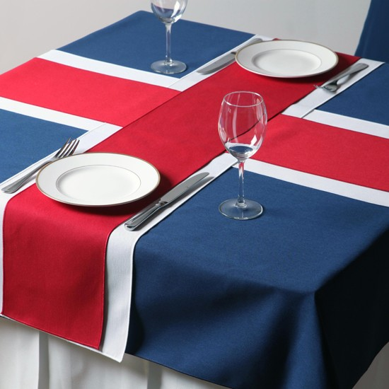 We love this celebratory table linen from Richard Haworth