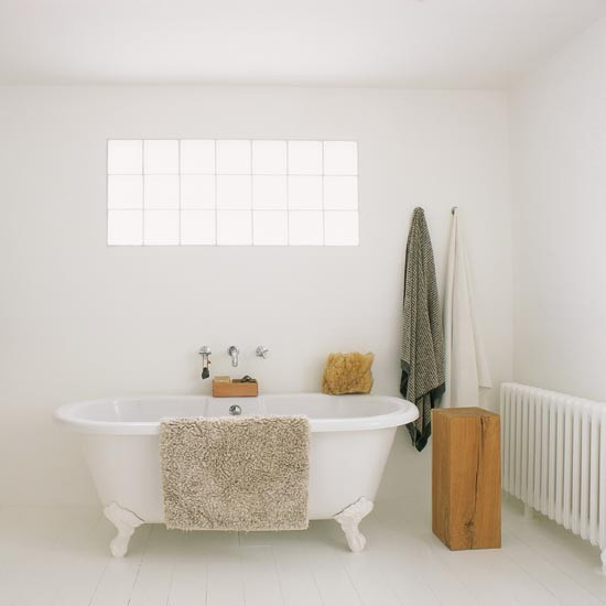 Bathroom Ideas White Tub : All white bathroom traditional bathrooms uk
