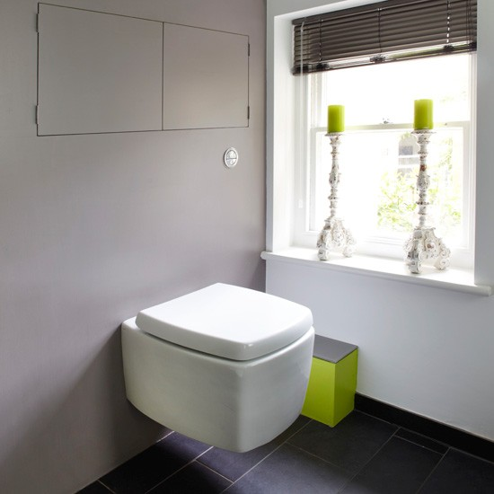 Space saving modern bathroom for Space saving bathroom designs