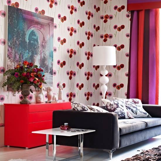 Boldly patterned living room | Decorating ideas | Livingetc