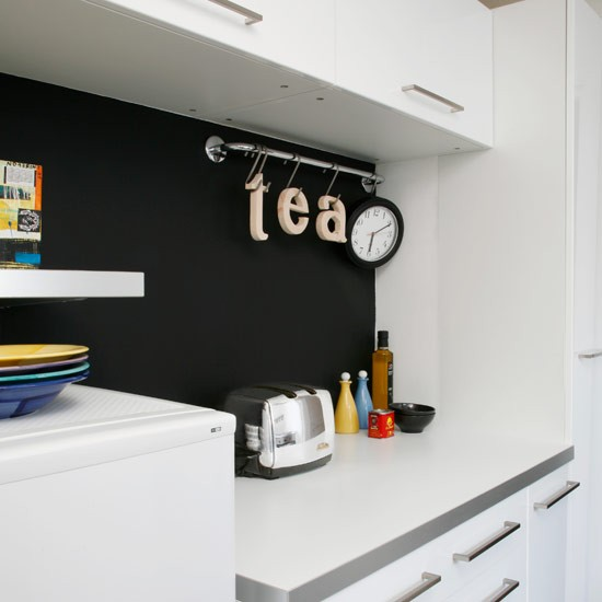 Blackboard painted wall | House tour | Modern flat |PHOTO GALLERY | Style at Home | Housetohome