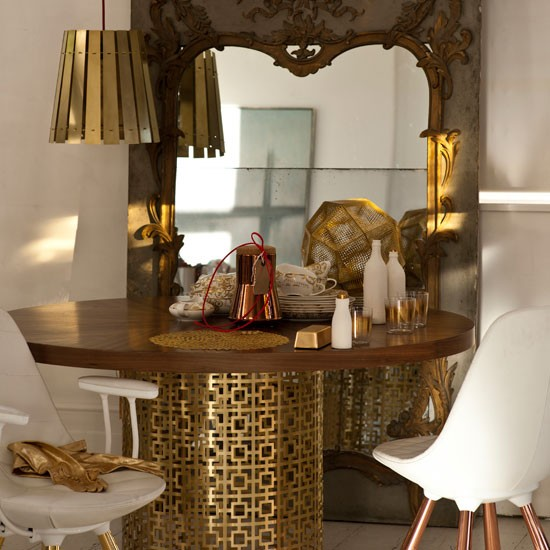 Glamorous dining area decorating inspiration for Dining room or there is nothing