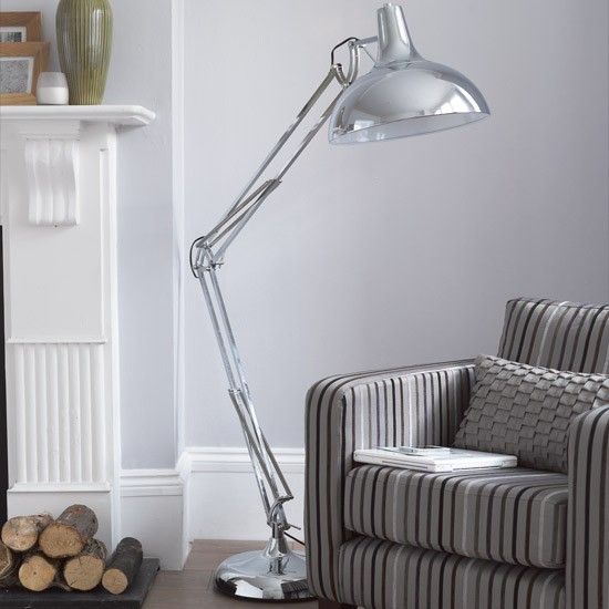 There&#039;s nothing shady about this Arlington Giant Chrome Floor Lamp, it&#039;s an absolute steal!
