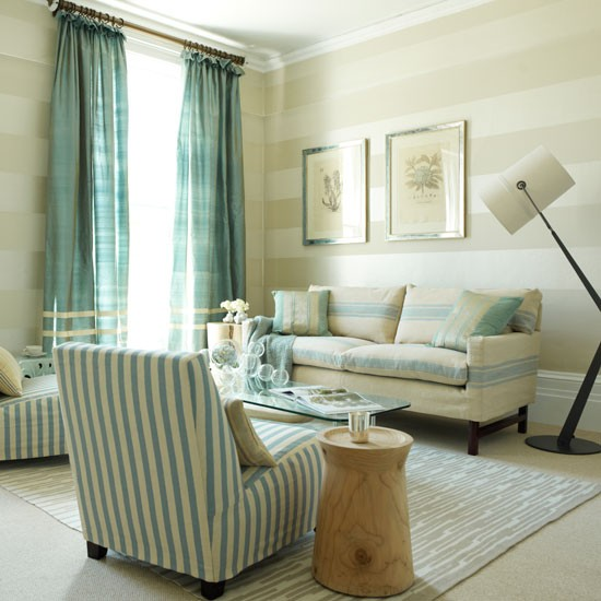 Mix and match stripes family living room design ideas for Metallic living room ideas