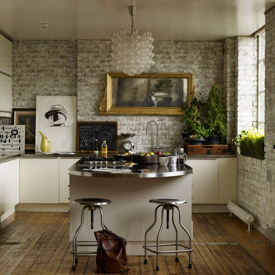 Industrial style kitchens best accessories housetohome for Industrial modern kitchen designs
