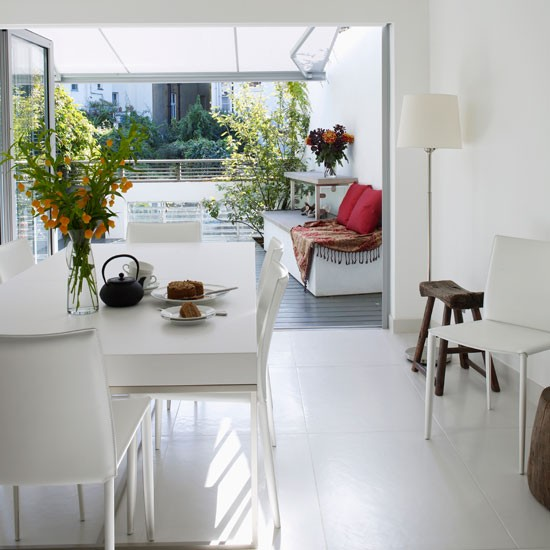 Dining area | Refurbished canalside London home | House tour | Homes & Gardens | Housetohome | PHOTOGALLERY
