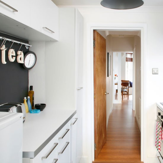 Small kitchen with a blackboard wall | Kitchen decorating | Style at Home | Housetohome
