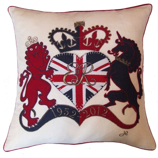 Lion and Unicorn cushion from Jan Constantine | Jubilee cushions | accessories | 10 OF THE BEST | Country Homes & Interiors | Housetohome