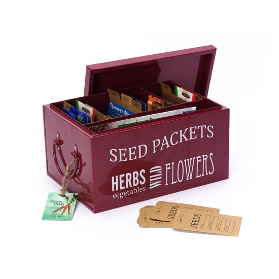 Seed packets organiser from The Handpicked Collection | garden accessories | country | Country Homes & Interiors