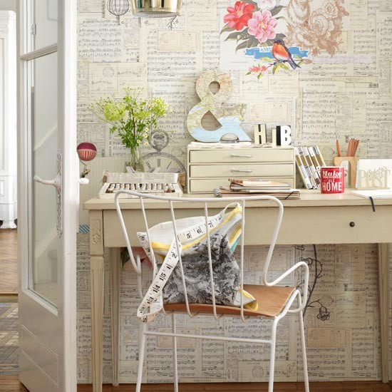 Pretty home office | Home office decorating ideas | Country Homes & Interiors