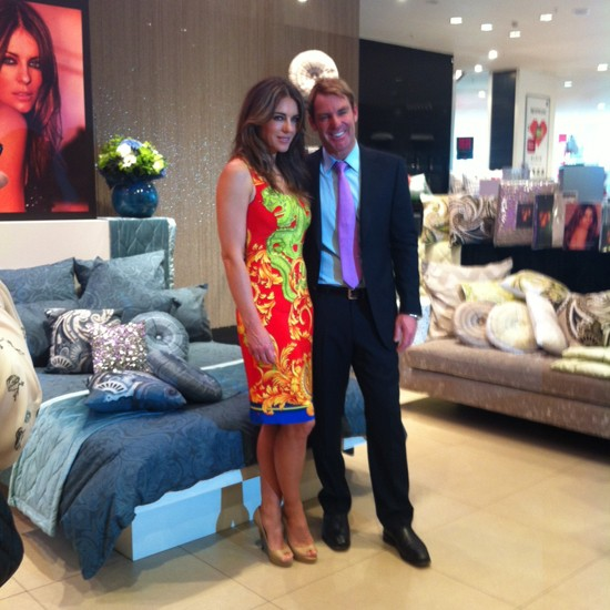 Elizabeth Hurley and Shane Warne at the launch of Elizabeth's new bed linen collection for House of Fraser