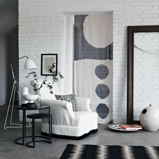 Calm monochrome living area | Living room decorating ideas | Homes & Gardens