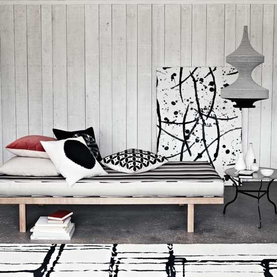 Monochrome modern living area | Living room decorating ideas | Homes & Gardens