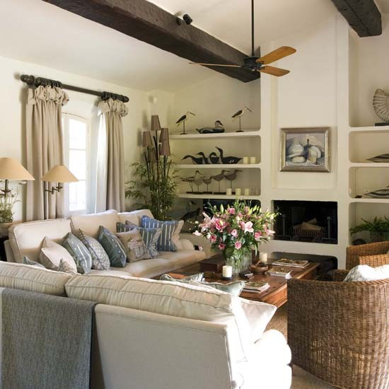 Living room house tour french country house for Beautiful house tour