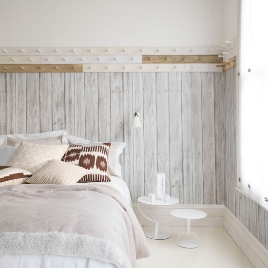 Rustic white bedroom with peg rails | White bedroom design ideas | Bedroom | PHOTO GALLERY | Livingetc | Housetohome.co.uk