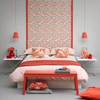 Modern coral bedroom
