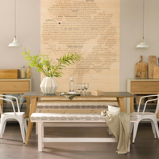 Dining room with natural colours modern dining room for Neutral dining room ideas