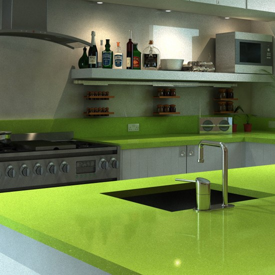 Green Kitchen Worktops Uk: Stone Masters Help You Get Tutti-frutti With Your Kitchen