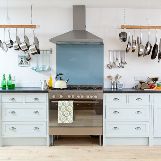 Eggshell blue kitchen traditional kitchen designs for Ideal home kitchen ideas