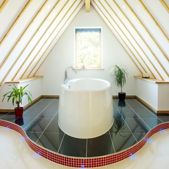Bold and contemporary bathroom   Modern bathroom designs   Ideal Home   Housetohome