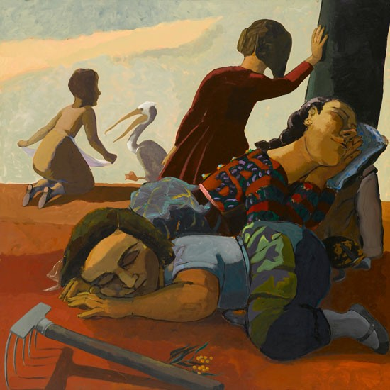 'Sleeping' by Paula Rego, 1986, will be on show at Abbot Hall this summer.
