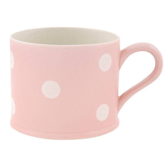 Pink spot mug by Susie Watson