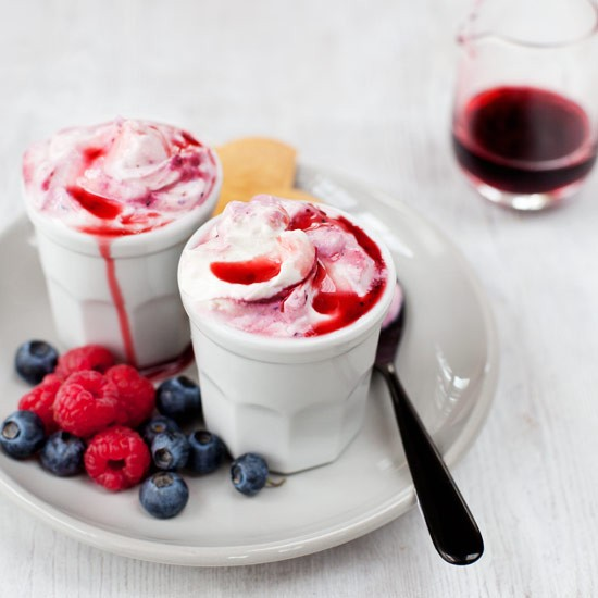 Tangy natural yogurt and sweet seasonal berries are a classic combination