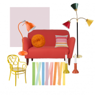 Multicoloured living room