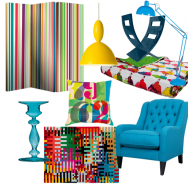 Pop bright living room