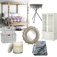 Neutral summer bedroom