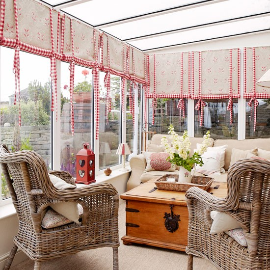 Comfortable Conservatory Seating Area Country Decorating