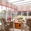 Comfortable conservatory seating area