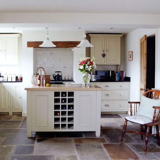 Cosy country kitchen kitchen planning ideas for Country kitchen floor ideas