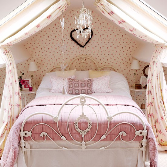 Pink and girly country bedroom | Childrens room decorating ideas | Country Homes & Interiors | Housetohome