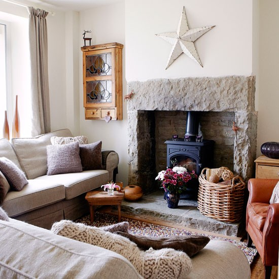 Textural country living room | Country living room ideas | Country Homes & Interiors | Housetohome