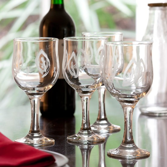 Follow Style at Home's easy steps to create your own pretty glassware