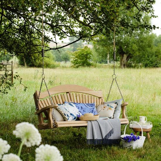 Garden lounging area