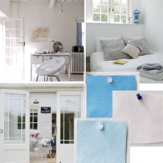 Fresh blue and white colour scheme | Moodboards | housetohome.