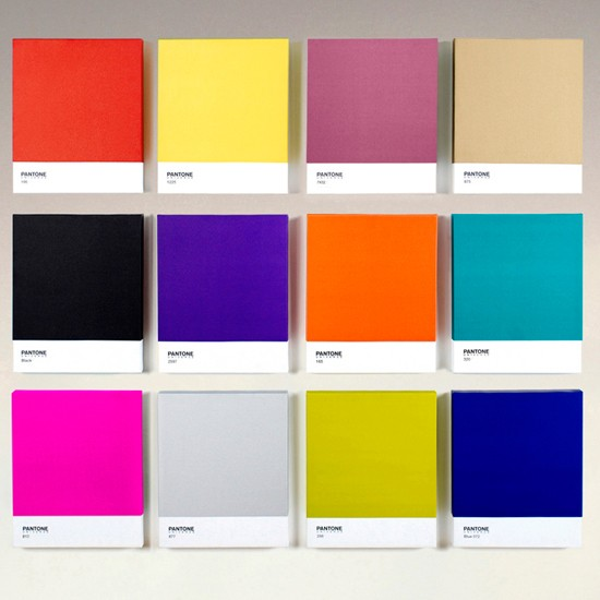 Brighten up your walls with an iconic PANTONE canvas