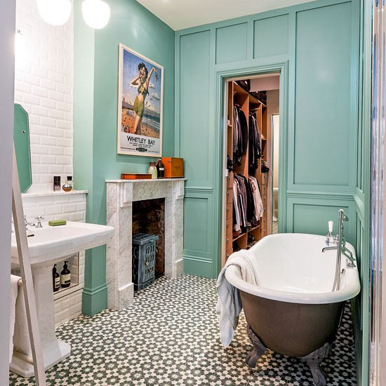 Bathroom be inspired by an eclectic victorian flat in north london houset - Salle de bains vintage ...