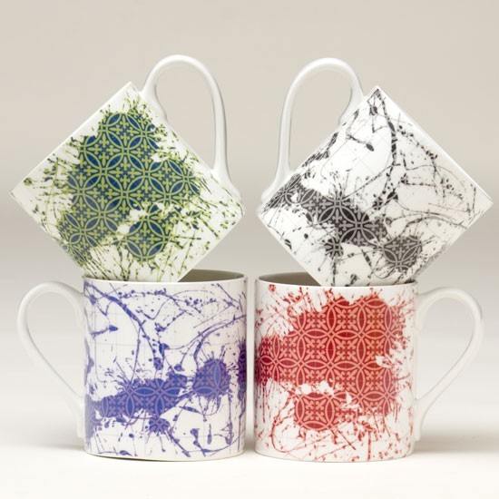 Mugs to refresh the design-savvy tea drinker, from TM Designs with Robert Dawson