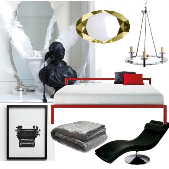 50 Shades Of Grey Bedroom Moodboards