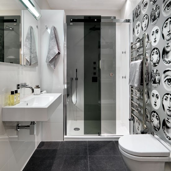 Add wow-factor wallpaper | Shower rooms | Bathroom | PHOTO GALLERY | Housetohome.co.uk