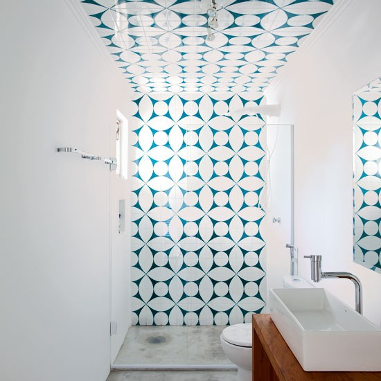 Choose graphic tiles to create an impact | Shower rooms | Bathroom | PHOTO GALLERY | Housetohome.co.uk