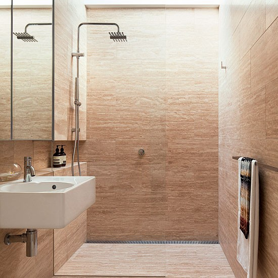 Create a calm space with natural materials | Shower rooms | Bathroom | PHOTO GALLERY | Housetohome.co.uk