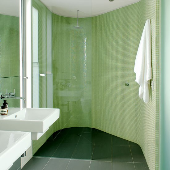 Go bold with mosiac tiles | Shower rooms | Bathroom | PHOTO GALLERY | Housetohome.co.uk