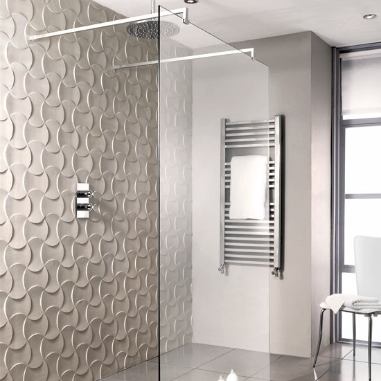 Play with pattern sculptural surface panels | Shower rooms | Bathroom | PHOTO GALLERY | Housetohome.co.uk