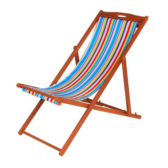 Deck Chairs - Striped Deckchair From Argos